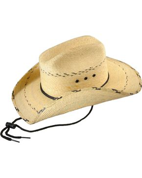 Bullhide Kids' Miller Jr. Leaf Straw Cowboy Hat, Natural, hi-res