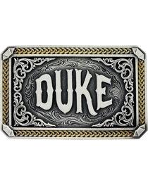 "Montana Silversmiths Two-Tone John Wayne ""The Duke"" Attitude Belt Buckle, , hi-res"