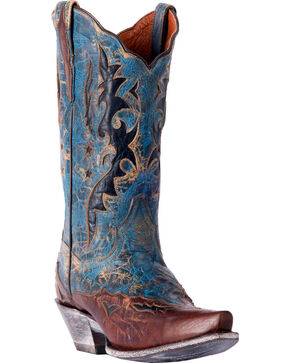 Dan Post Women's Amelia Cowgirl Boots - Snip Toe, Turquoise, hi-res