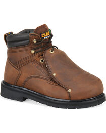 Carolina Men's Dark Brown MetGuard Boots - Broad Toe, , hi-res