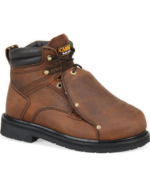 Carolina Men's Dark Brown MetGuard Boots - Broad Toe, Dark Brown, hi-res