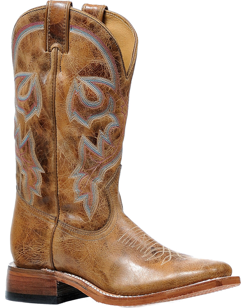 Boulet Women's Damasko Taupe Stockman Cowgirl Boots - Square Toe, , hi-res