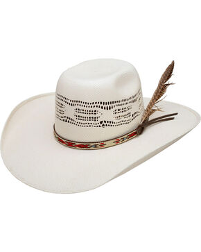 Resistol Men's Natural Young Guns Bangora Straw Cowboy hat , Natural, hi-res