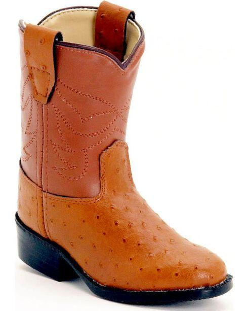 Jama Toddler's Exotic Print Western Boots, Cognac, hi-res