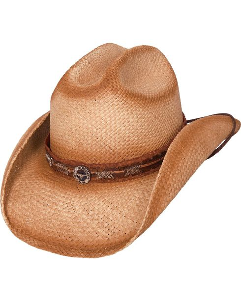 Bullhide Women's Trailboss Straw Hat, Natural, hi-res