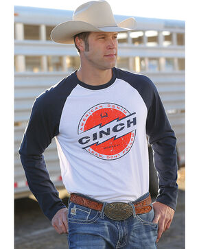Cinch Men's Navy Long Sleeve Raglan Tee , Multi, hi-res