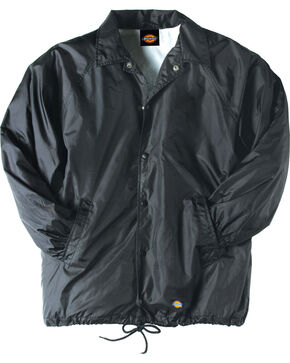 Dickies Snap Front Nylon Jacket - Big & Tall, Black, hi-res