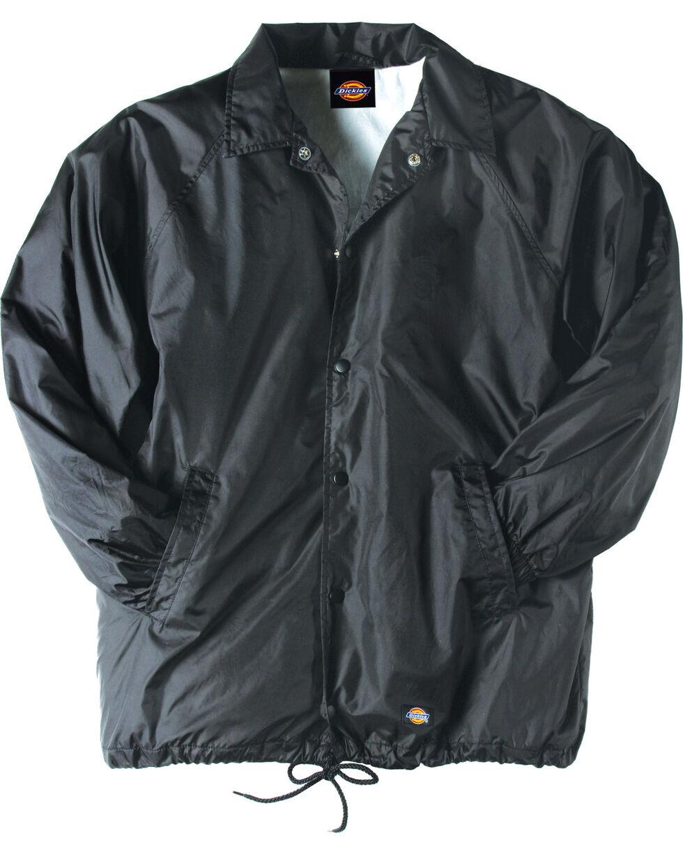 Dickies Snap Front Nylon Jacket - Big & Tall, Black, hi-res