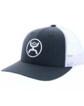 HOOey Men's Logo Embroidered Trucker Cap, Grey, hi-res