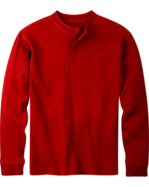 Mountain Khakis Men's Engine Red Trapper Henley Shirt, Red, hi-res
