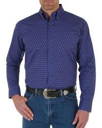 Wrangler Men's Diamond Printed Long Sleeve Shirt, , hi-res