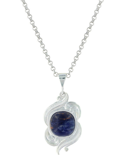 Montana Silversmiths Women's Midnight Winds Necklace , Silver, hi-res
