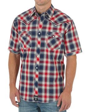 Rock 47 by Wrangler Western Plaid Short Sleeve Shirt, Red, hi-res