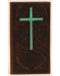 Ariat Turquoise Cross Rodeo Wallet, , hi-res