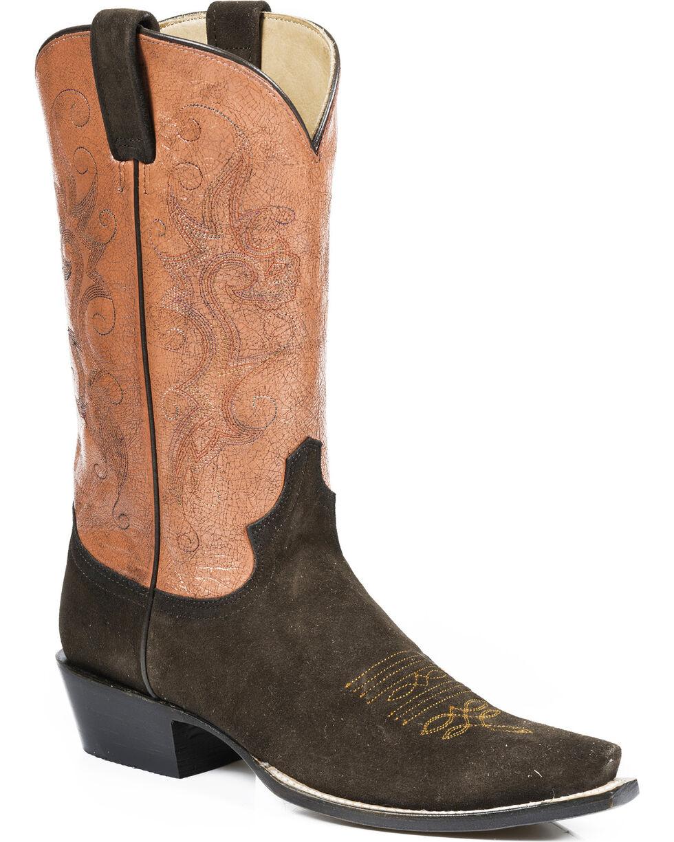 Stetson Women's Handmade Suede Western Boots, , hi-res