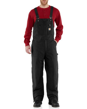 Carhartt Men's Quick Duck Jefferson Bib Overalls - Big & Tall, Black, hi-res