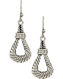 Montana Silversmiths Women's Twisted Rope Loop Earrings, , hi-res