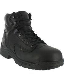 """Timberland Men's Black Titan 6"""" Work Boots - Alloy Toe , , hi-res"""