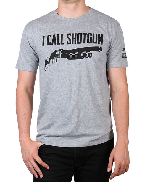 Brothers & Arms Men's Shotgun T-Shirt, Charcoal, hi-res