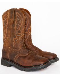 Cody James® Men's Broad Square Toe Western Work Boots, , hi-res