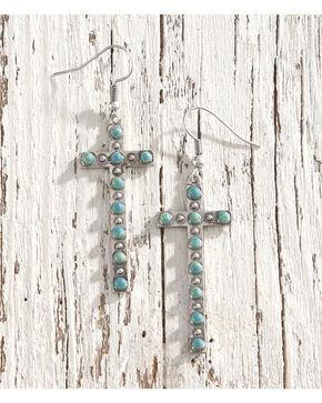 Shyanne Women's Turquoise Mini Stone Earrings, Silver, hi-res