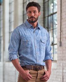Ryan Michael Men's Aztec Laser Print Long Sleeve Shirt, , hi-res