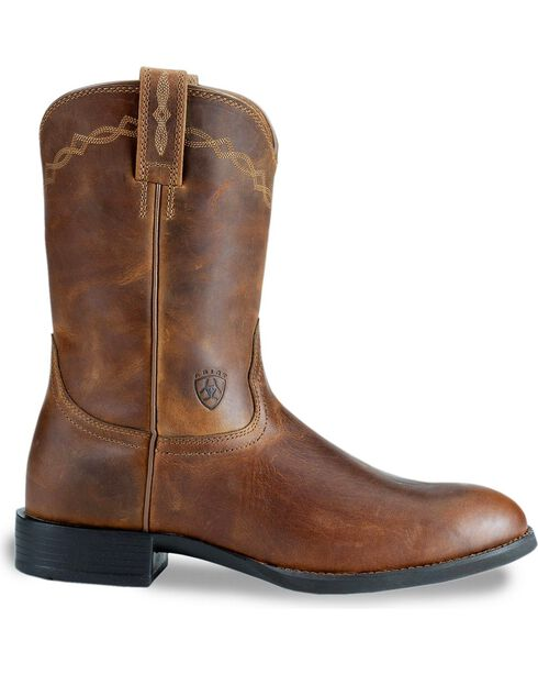 "Ariat Men's Heritage Roper 10"" Western Boots, Distressed, hi-res"
