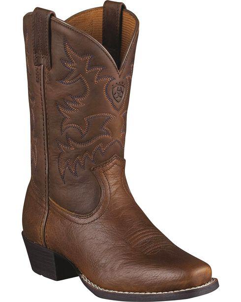 Ariat Boys'  Legend Rowdy Cowboy Boots - Square Toe, Brown, hi-res