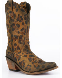 Liberty Black Women's Chita Miel Western Cowgirl Boots - Pointed Toe , Cheetah, hi-res