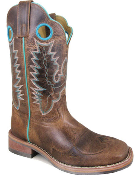 Smoky Mountain Women's Brown Marianna Waxed Boots - Square Toe , Brown, hi-res