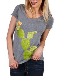 Bohemian Cowgirl Women's Cactus Short Sleeve Tee, , hi-res