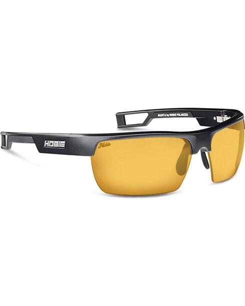 Hobie Men's Sightmaster and Satin Black Manta Polarized Sunglasses , Black, hi-res