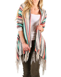 Say What Women's Fringe Tasseled Open Front Sweater, , hi-res