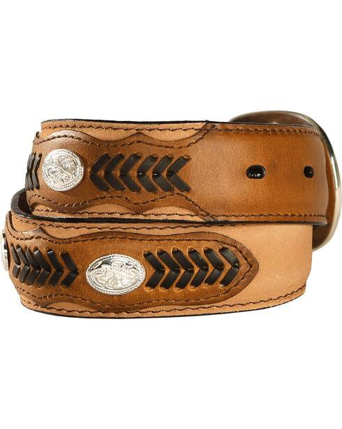 M & F Western Kids' Lacing & Concho Belt, Brown, hi-res