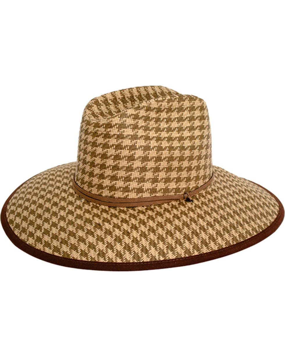Peter Grimm Women's Brown Oahu Straw Hat , Brown, hi-res