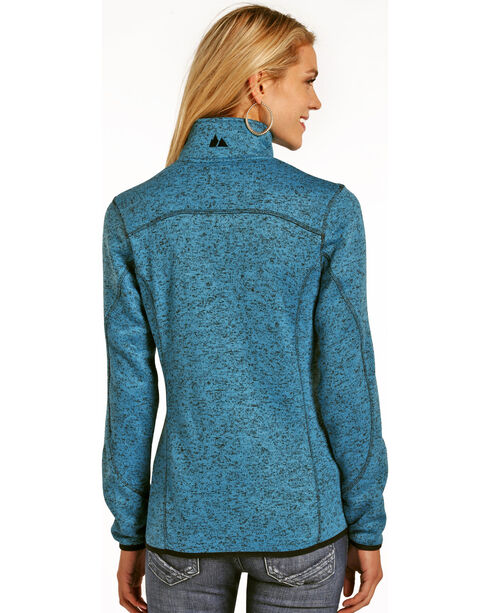 Powder River Outfitters Women's 1/4 Zip Pullover Sweater, Blue, hi-res