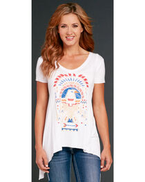 Cowgirl Up Eagle Print Short Sleeve Top, , hi-res
