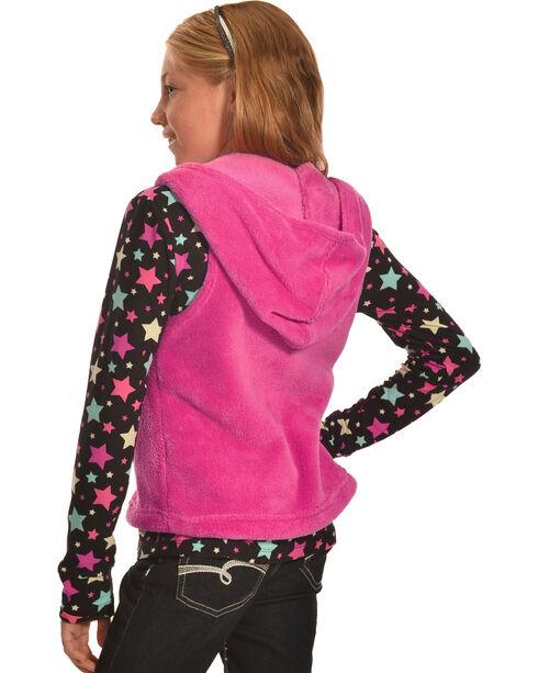 Derek Heart Girls' Pink Hooded Vest and Long Sleeve Star Tee Combo , Pink, hi-res
