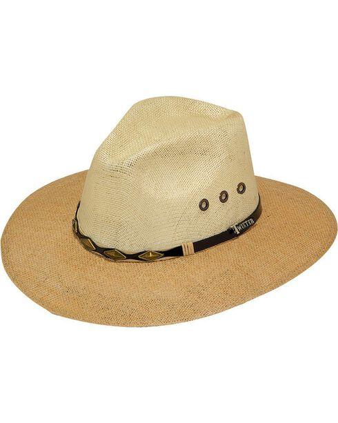 Twister 8X Jute Straw Cowboy Hat, Tan, hi-res