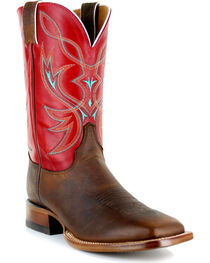 Justin Men's Two Toned Square Toe Western Boots, , hi-res