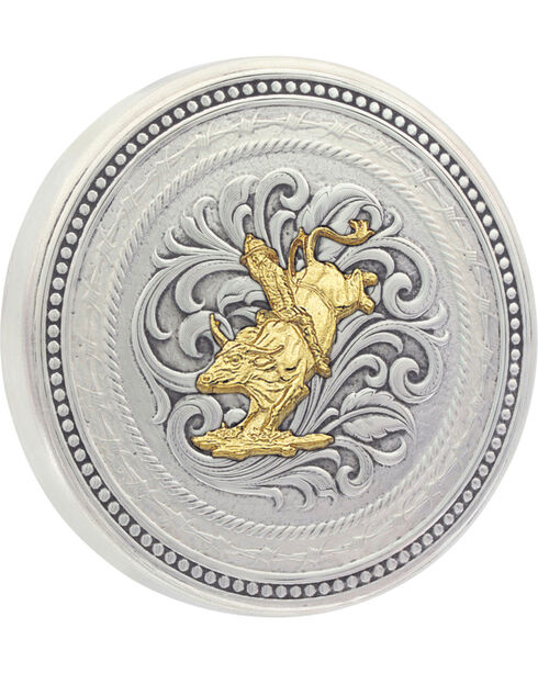 Montana Silversmiths New Traditions Bull Rider Snuff Lid, Multi, hi-res