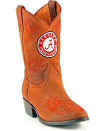 Gameday Boots Girls' University of Alabama Western Boots - Medium Toe, , hi-res