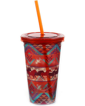 BB Ranch® Aztec and Horse Tumbler, No Color, hi-res