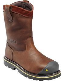 Keen Footwear Men's Wellington Pull-On Steel Toe Work Boots, , hi-res