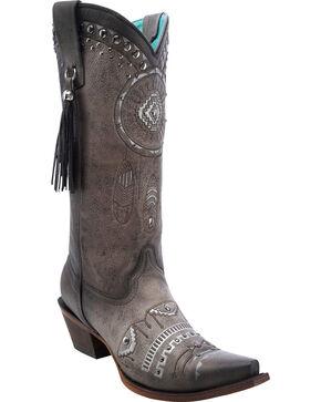 Corral Women's Dreamcatcher Snip Toe Western Boots, Black, hi-res