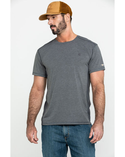 Carhartt Men's Shadow Heather Force Extremes Short Sleeve T-Shirt, Heather Grey, hi-res