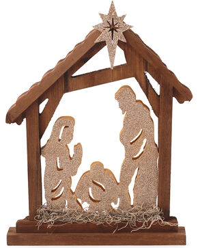 BB Ranch Wooden Nativity Sign, No Color, hi-res