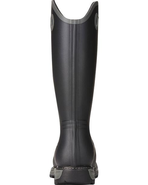 Ariat Men's Conquest Rubber Buckaroo Square Toe Hunting Boots, Black, hi-res