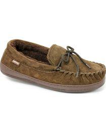 Chestnut Men's Leather Moccasin Slippers, , hi-res