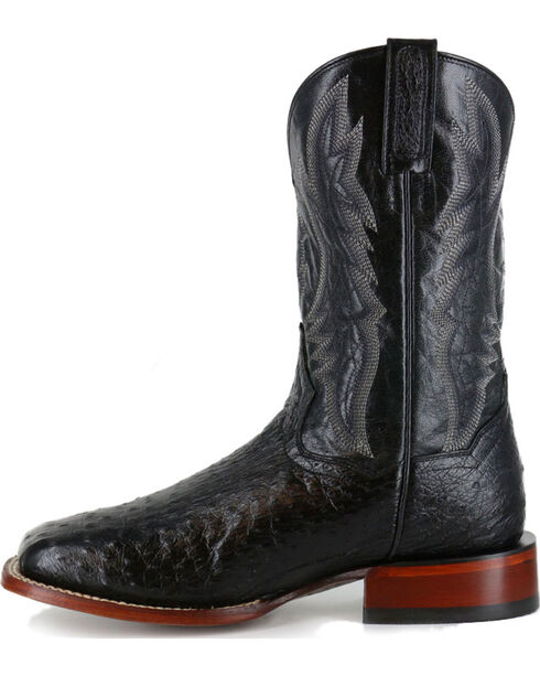 Dan Post Men's Ostrich Square Toe Exotic Boots, Black, hi-res
